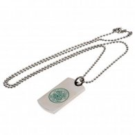 Celtic F.C. Colour Crest Dog Tag & Chain