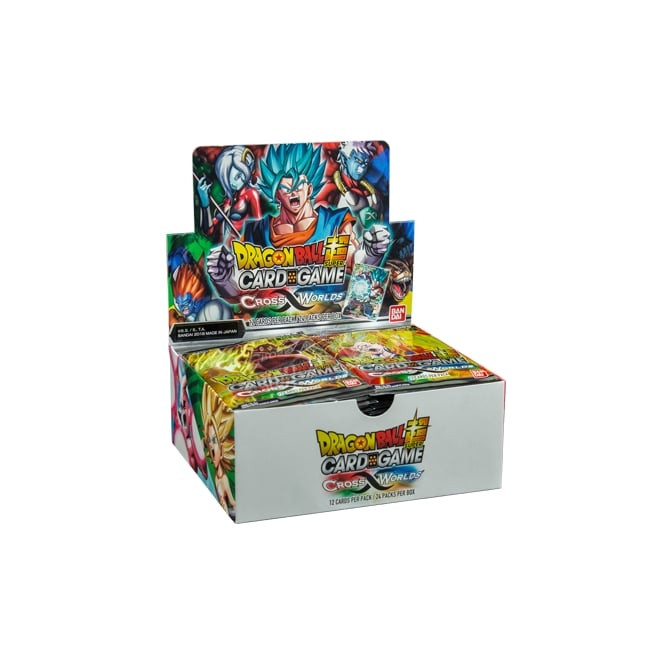 UK Wholesale Dragon Ballz Card Game CROSS WORLDS Packs (24 pcs)