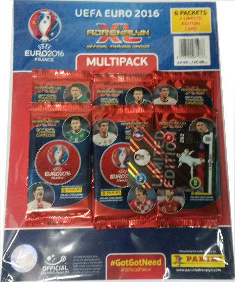 Wholesale Panini France Euro 2016 Adrenalyn XL MULTIPACK