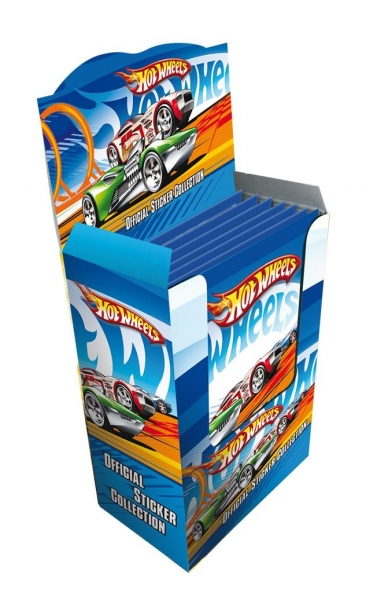 Wholesale Box of Hot Wheels Stickers Sports Cars (50 packs)