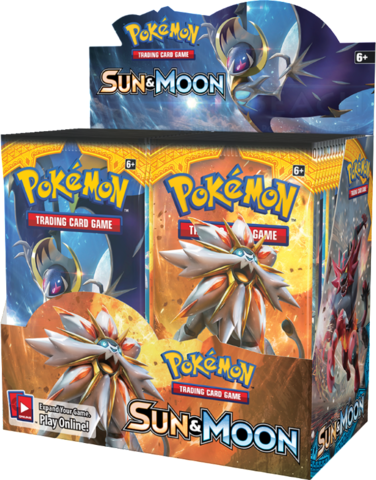 Wholesale Pokemon SUN & MOON Trading Cards Booster Box Packets