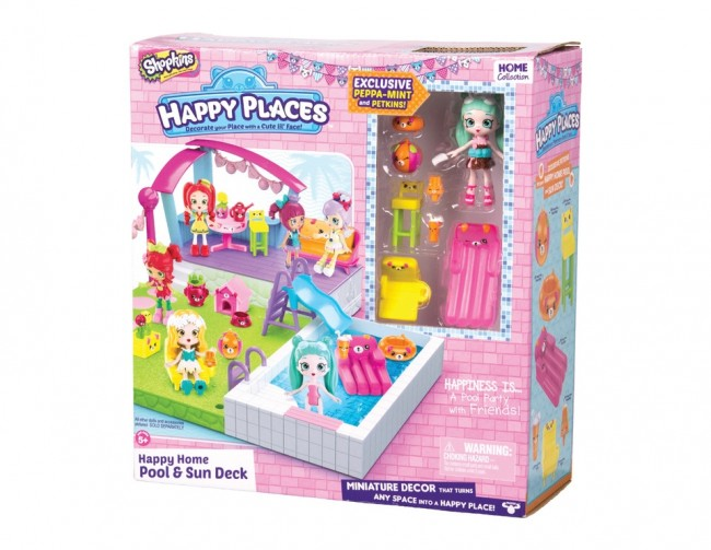 Shopkins Happy Places Home Pool & Sun Deck Playset