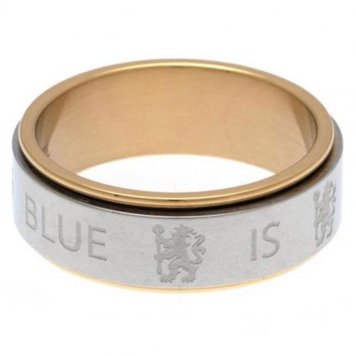 Chelsea F.C. Bi Colour Spinner Ring Small