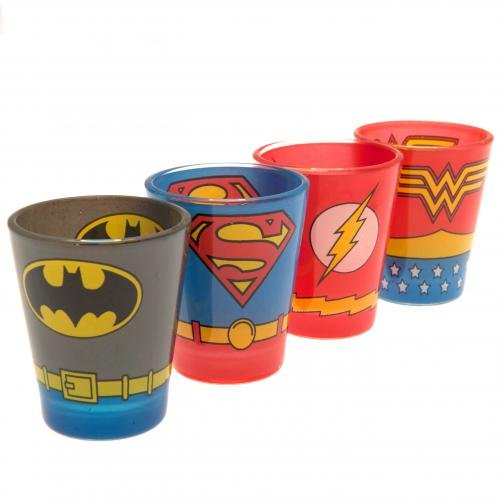 DC Comics 4pk Premium Shot Glass Set