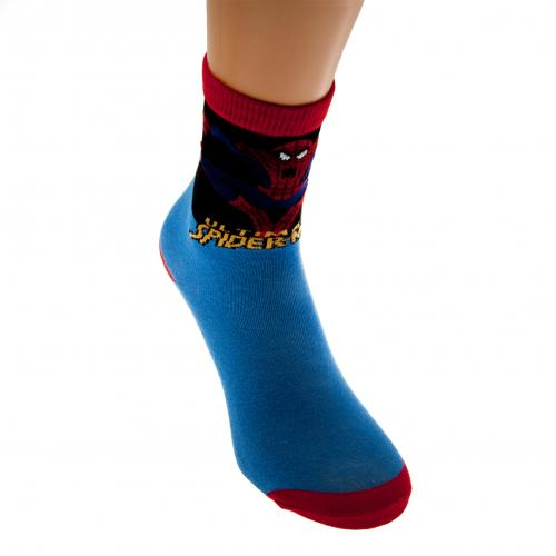 Spider-Man Boys Socks 1 Pack Junior 9-12 BL