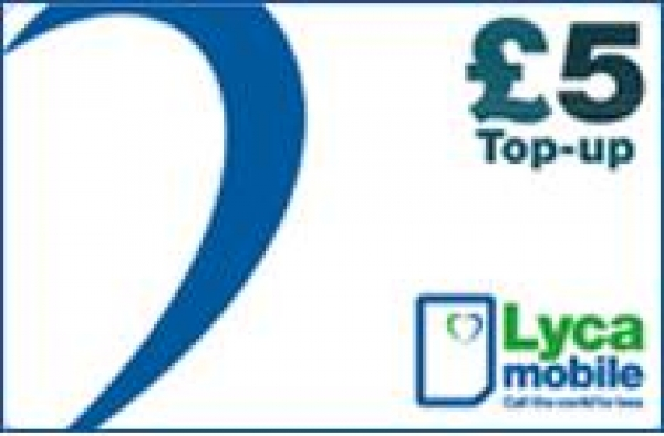 Pack of £5 Lyca Mobile Vouchers